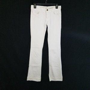 J BRAND White HEARTBREAKER Stretch Boot Cut Jeans